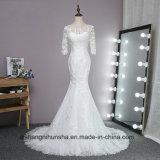 Платье венчания Mermaid шнурка с длинними втулками выполненный на заказ