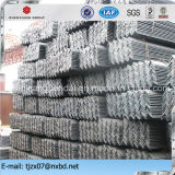 Ángulo de acero Bar, Ange el hierro, acero al carbono pieza angular en la Categoría A36, SS400 S235JR, St37-2, Q235, Q195, S275JR, Q345