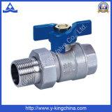 Geschmiedetes manuelles Messingbasisrecheneinheits-Kugelventil für Wasser (YD-1004)