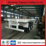 40FT 20FT 반 3개의 차축 수송을%s 평상형 트레일러 콘테이너 트레일러