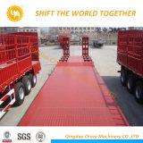 China-schweres Geräten-niedriger Bett-Schlussteil mit hydraulischen Lenkwellen