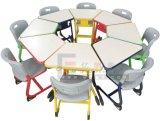 روضة أطفال مزح أثاث لازم [أو] شكل طاولة مع كرسي تثبيت بلاستيكيّة