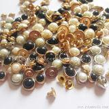 半円の合金の固体真珠の釘の靴の服装は装飾的なアクセサリをリベットで留める