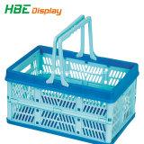 Promoção coloridos de plástico dobráveis cesto de compras
