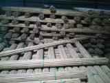 Bastón de bambú de la naturaleza con color teñido