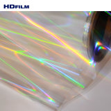 Znsの層アクリルのコーティングが付いている上塗を施してあるペット透過ホログラフィックフィルムの継ぎ目が無い虹パターンペットホログラフィックフィルム