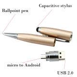 접촉 볼펜 모양 OTG USB 섬광 드라이브 기억 장치 지팡이