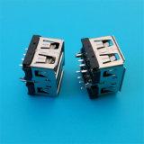 겹켜 8 Pin 똑바른 USB 연결관