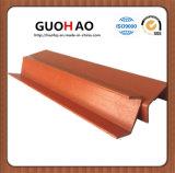 Tubo resistente a la corrosión de los U-Perfiles de la fibra de vidrio FRP para el material de construcción