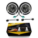 セリウムのハイ・ロービームクリー族の天使の目DRLはジープのための自動車7inch円形LEDのヘッドライトを卸し売りする