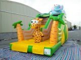 Venta caliente Selva hinchable tobogán para niños