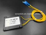 PLC van de Plastic Doos van de Kabel van de vezel de Optische 1X2 Schakelaar van Scpc van de Splitser