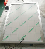 Casella chiara sottile acrilica dell'alluminio del blocco per grafici fissato al muro LED dello schiocco