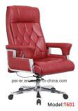 Büro-ergonomisches Luxuxhotel-hölzerner lederner Chef-vollziehendstuhl (PE-6207)