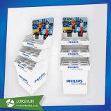 Productos Eléctricos de papel cartón piso estante mostrar