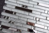 Dosseret de cuisine Décoration murale Aqua feuilles prix bon marché en mosaïque de verre