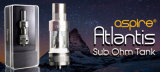 Comercio al por mayor e-cigarrillo Atomizer Sub Ohm Aspire Atlantis el depósito con 2ml