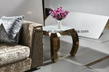 Modern Gold Plated Stainless Steel Sofa Counts Side Table End Table Living room Room Furniture