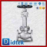 Válvula de globo de levantamiento del acero inoxidable del vástago de la calidad europea de Didtek