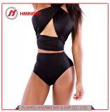 Heraus eingewickelten Brust eingewickelten reizvoller hoher Taillen-Verbandreizvollen Halter-Stutzen-Bikini-Badeanzug aushöhlen