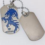 Tag de cão feito sob encomenda do metal da alta qualidade com promoção