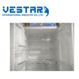 Refrigerador de prata de vidro com o refrigerador da classe da+