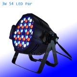 RGBW Licht van het PARI van de Kleur 54 leiden 3watts het Binnen