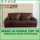 Sofá moderno ajustado do couro genuíno da mobília do sofá secional de Loveseat