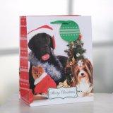 点の小犬のクリスマスの紙袋、ギフトの紙袋