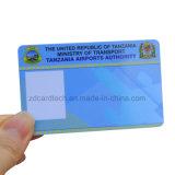 Zoll vorgedruckte Mitgliedskarte Cr80 RFID Belüftung-Identifikation-Karte