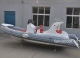 Liya 22FT Barco Rígida Hypalon costela barco inflável para venda