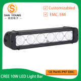 Jeep SUV UTV ATV Truck를 위한 IP67 Single Row Offroad 4X4 크리 말 LED Light Bar