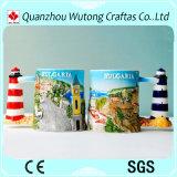 Decoración de cerámica del hogar de la taza del nuevo de la llegada del recuerdo paisaje de los items