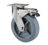 """8 """" 304 difficultés d'acier inoxydable/chasse rigide avec du matériau gris de TPR"""