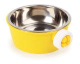 Comercio al por mayor de alimentos de jaula de acero inoxidable colgante perro de mascota Bowl