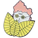 나비 클러치를 가진 주문 금속 염료 검정 접어젖힌 옷깃 Pin