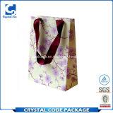 Couleur pleine fleur sac de papier jetable de recyclage