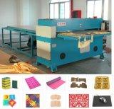 Máquina de la prensa del rompecabezas Jigsaw de la Cuatro-Columna que corta con tintas