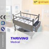 Thr-B004 Aço inoxidável Bassinet hospitalar com gavetas