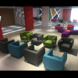 Sofa en bois de loisirs confortables modernes de tissu