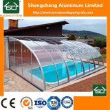 De zonne Bijlage van het Glas van het Zwembad van het Zwembad van de Dekking