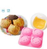 Mini moule à gâteaux antiadhésif de silicones, sucrerie Bakeware de fondant de pain