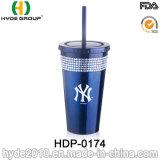 Настраиваемые BPA Бесплатные пластиковые двойные стенки тумблерный с соломы (ПВР-0174)