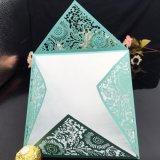El lujo Ahuecó-hacia fuera la impresión de encargo de la tarjeta de felicitación de la tarjeta del regalo