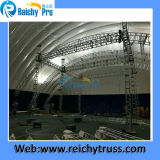 表示のための移動式段階が付いている屋根のトラス