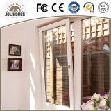 Porte en verre en plastique de la fibre de verre bon marché UPVC des prix d'usine de prix concurrentiel avec des intérieurs de gril