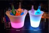 Cubo de hielo de encargo de la cerveza del vino con la luz del LED