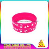 Nuovo Wristband di progettazione, braccialetti personalizzati della gomma di silicone all'ingrosso