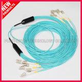 Cavo ottico Pre-connectorized multimoda della fibra del PVC di multiplo di LC-LC