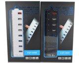 USB 3.0 7ポートHub+ 1のポートの速い料金ポート